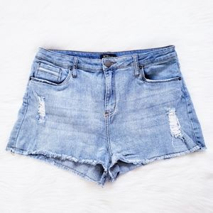 STS Blue Rose Bowl Distressed Shorts